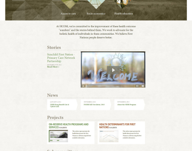 Medical Website Design Concept 3